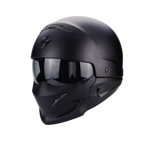 Scorpion Casco Moto (blanco y negro)