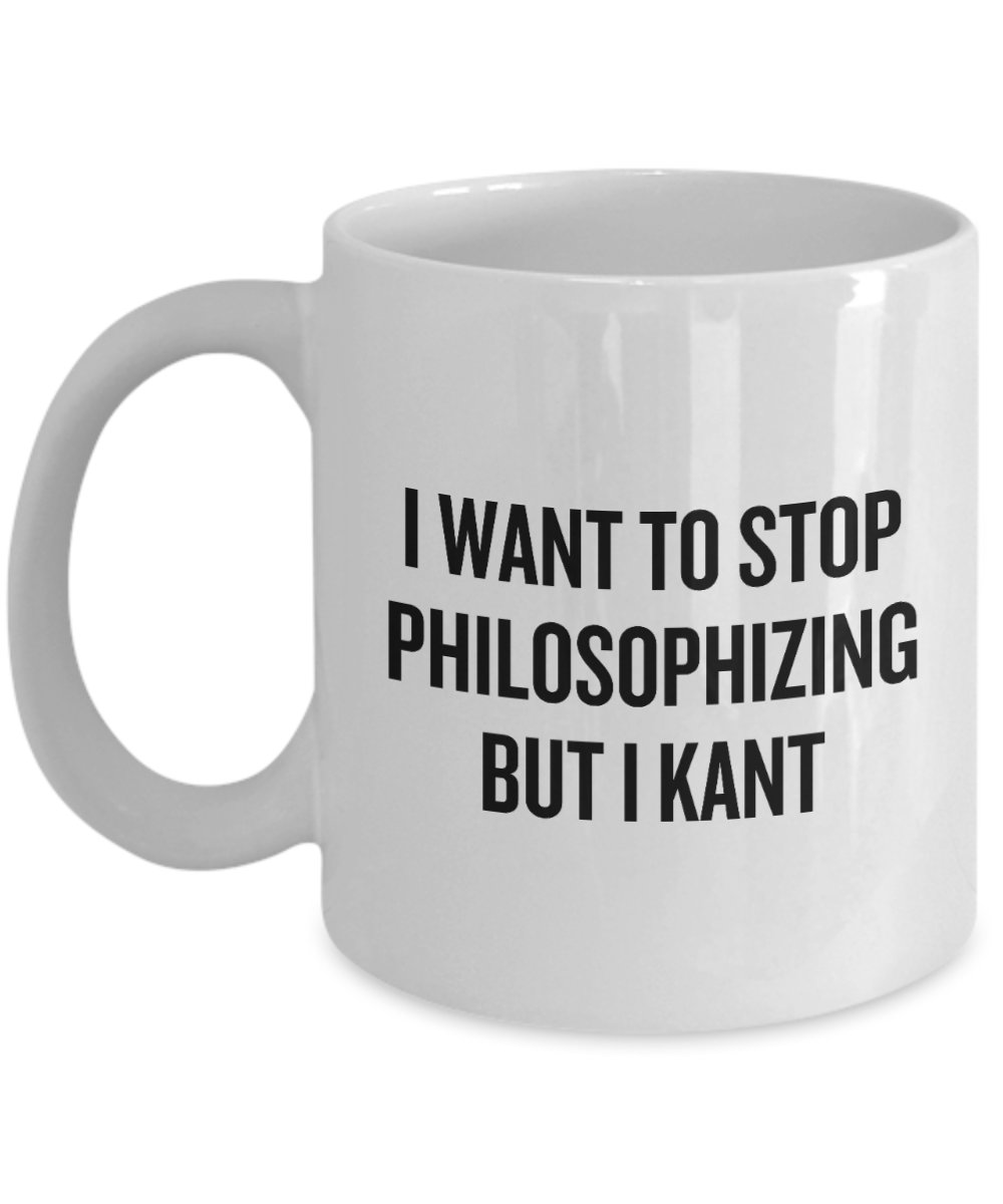I want to stop philosophizing but i kant