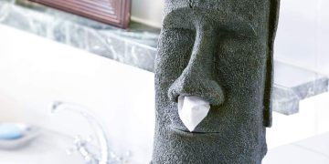Dispensador de pañuelos Moai