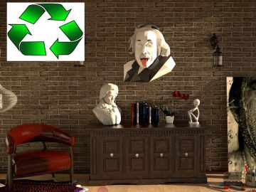 Albert Einstein/papercraft 3d