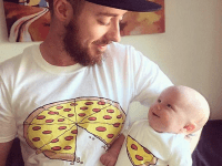 Camisetas pizza - para padres e hijos