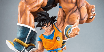 figura dragon ball nappa y goku