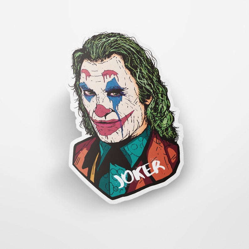 Joker Joaquin Phoenix Custom Vinyl Sticker