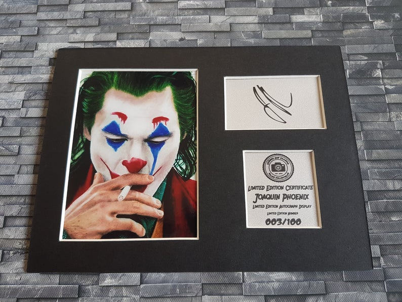 Joaquin Phoenix Signed Autograph Display
