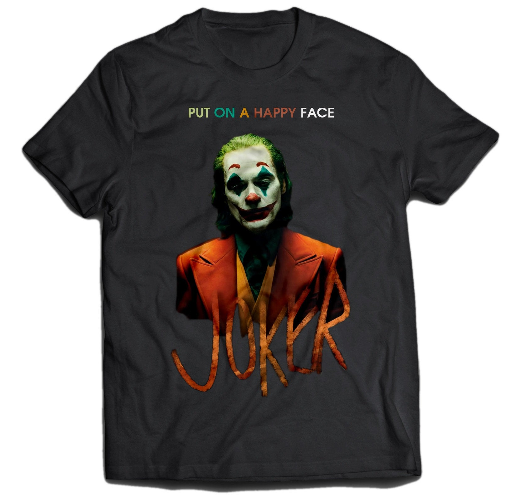 The joker T shirt Movie joaquin phoenix Tshirt Harley Quinn DC Comics The Dark Knight, Justice League Superheroes Unisex Adult kids J01