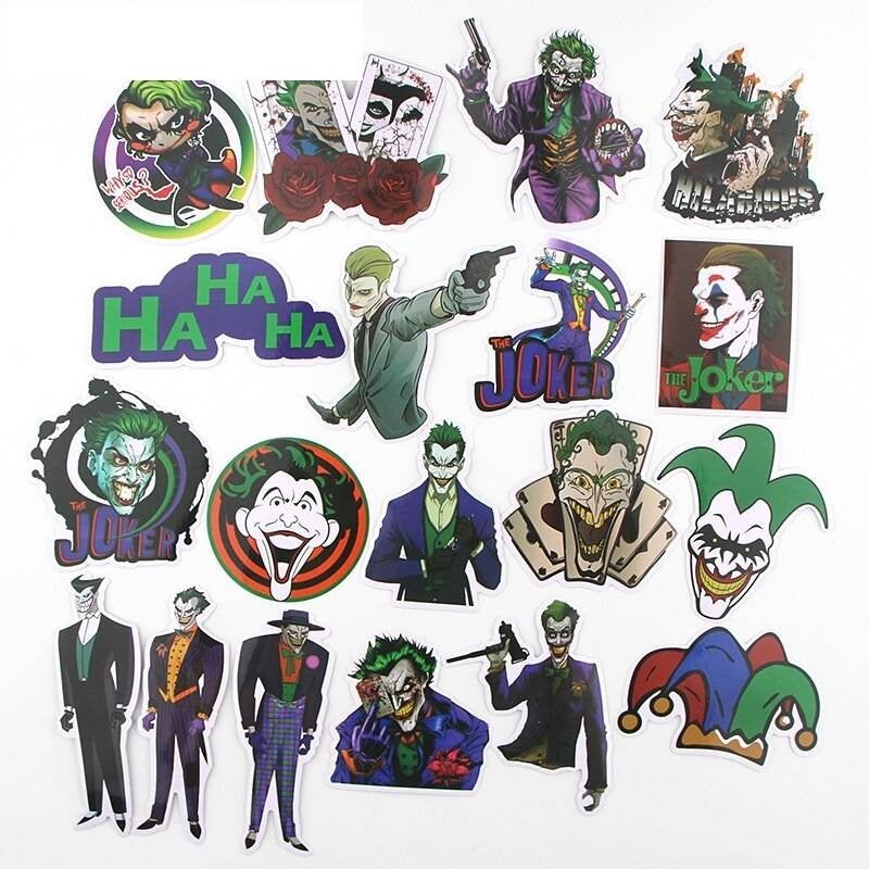 19 PC'S DC Joker Stickers Set