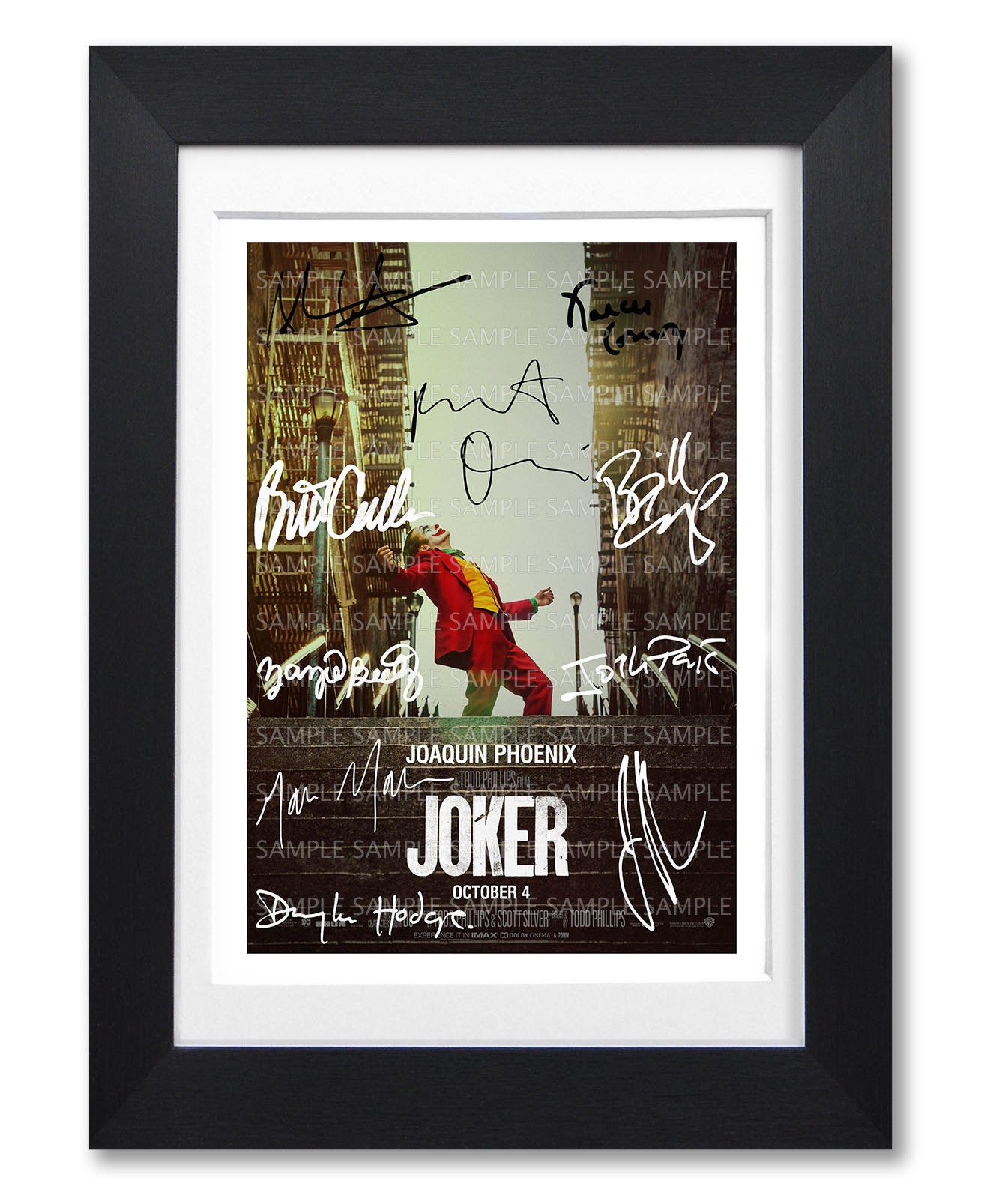 JOKER movie cast signed poster print photo autograph