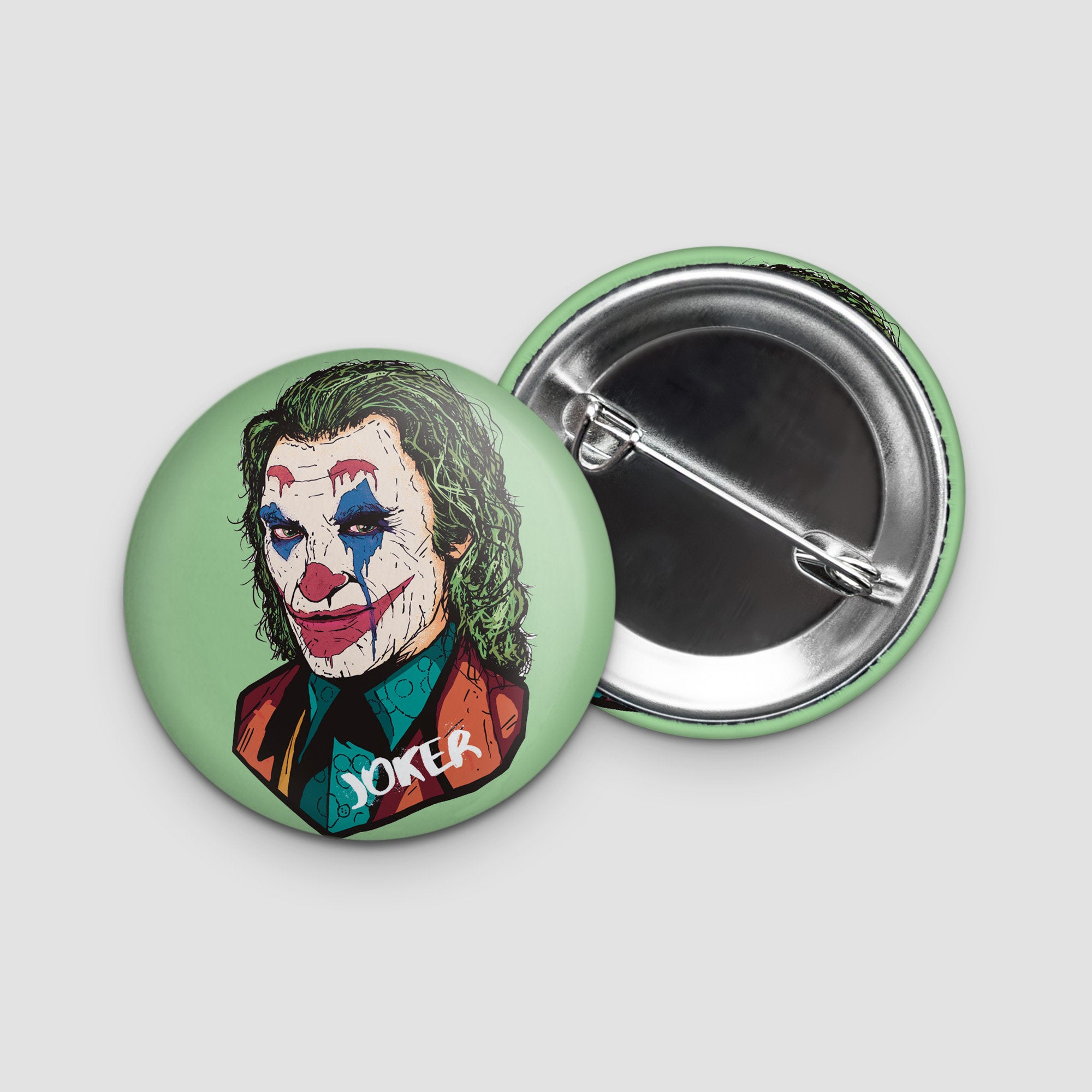 Joker Button Badge 38mm Joaquin Pheonix
