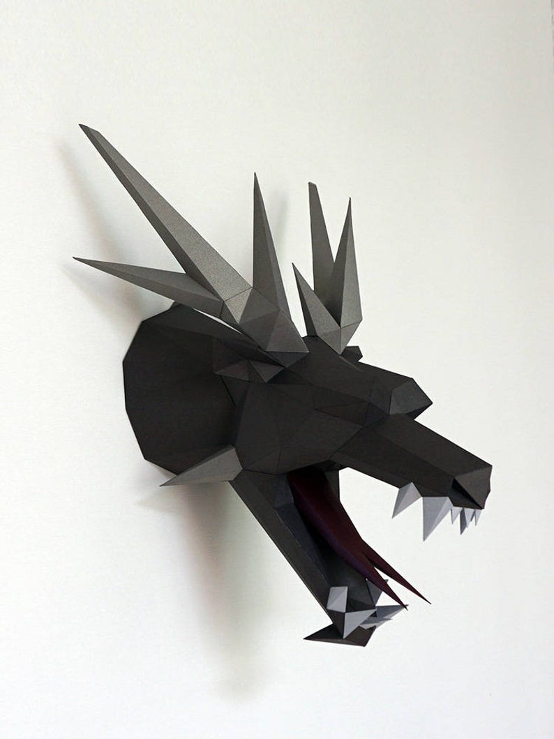 black dragon head