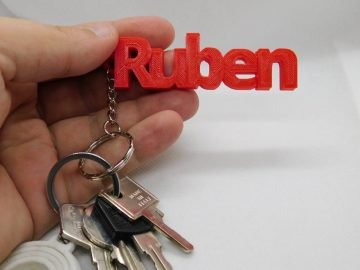 your own custom keyring with your name