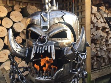 Motorhead Snaggletooth Fire Pit - Warpig Fire Pit - Motorhead Wood Burner - Metal Art